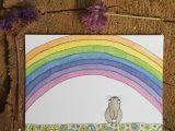 Blije Regenboog – ansichtkaart