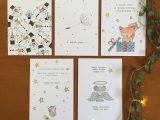 Set van 5 kerstkaarten met enveloppen